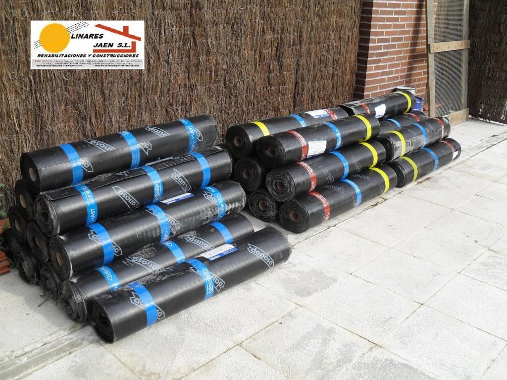 1Acopio de laminas asfalticas plastificadas 1024x768 - Impermeabilización de cubiertas, terrazas o patios
