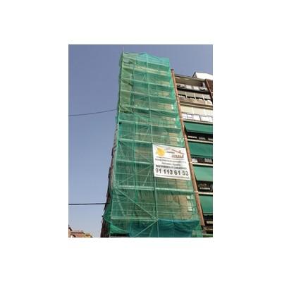 Fachada con monocapa con acabado raspado 3 - Fachadas de monocapa con árido proyectado