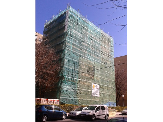 Fachada con monocapa con arido proyectado 32 - Rehabilitación de edificios